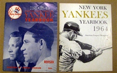 1964 NEW YORK YANKEES YEARBOOKS - 2 - OFFICIAL & JAY ISSUE