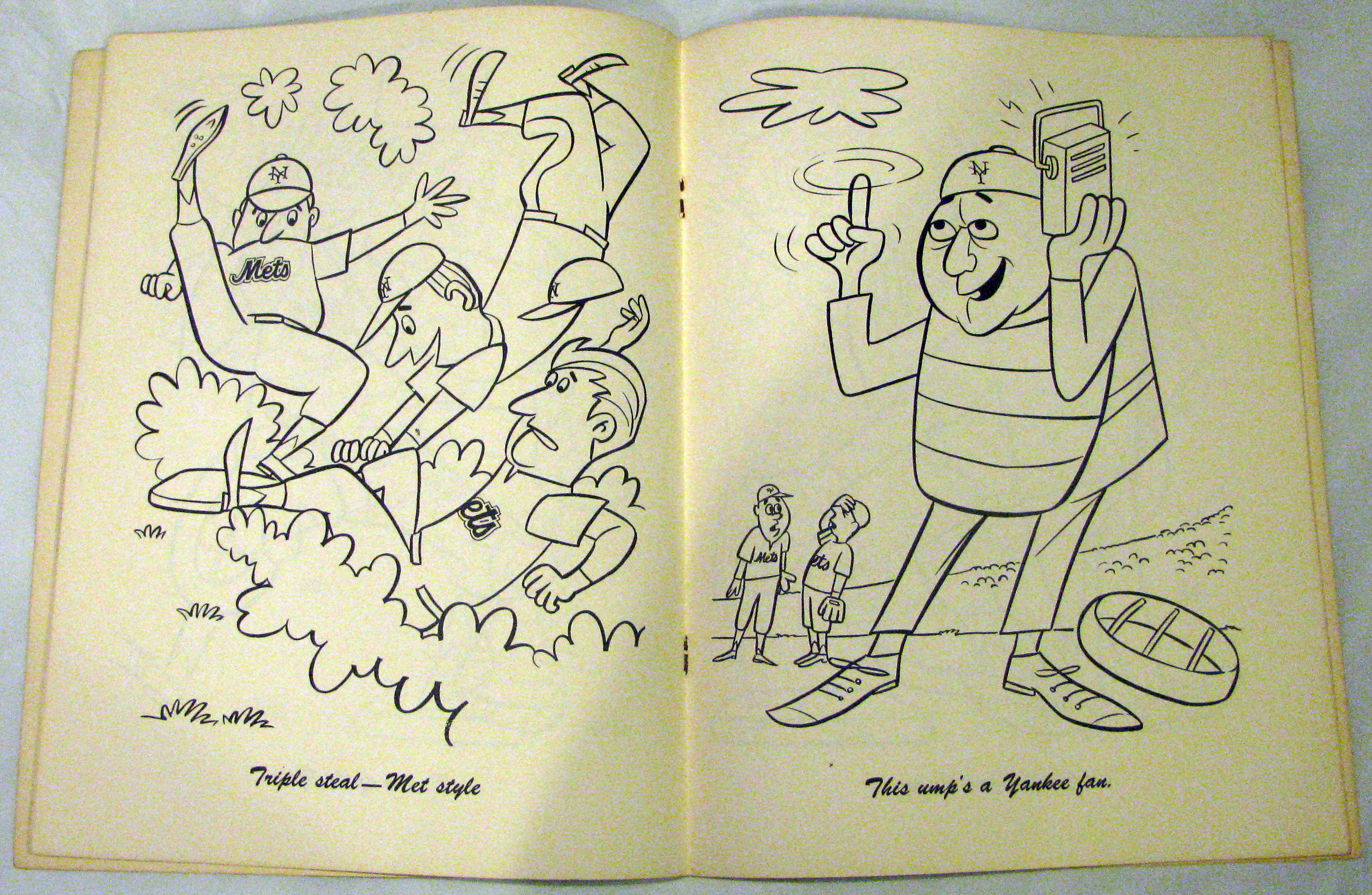 Lot detail 1965 new york mets coloring book w mr met for Mets coloring pages