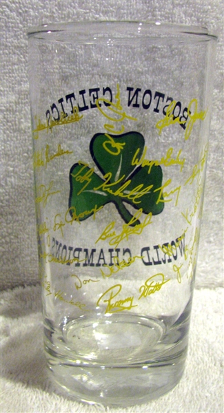 60's BOSTON CELTICS WORLD CHAMPIONSHIP GLASS