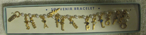 1969 SEATTLE PILOTS CHARM BRACELET w/BOX