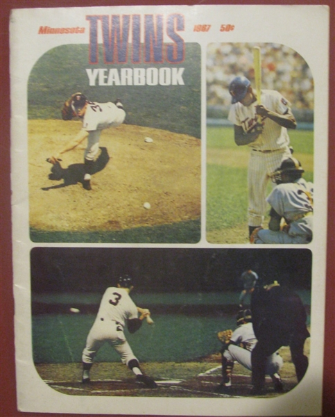 1967 MINNESOTA TWINS YEARBOOK