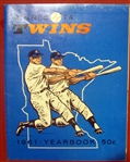 1961 MINNESOTA TWINS YEARBOOK- 1st YEAR OF FRANCHISE
