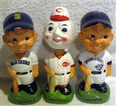 "1988 ""TWIN"" BOBBING HEADS -REDS/MARINERS & BLUE JAYS"
