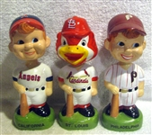 "1988 ""TWIN"" BOBBING HEADS - CARDINALS/ANGELS & PHILLIES- 3"