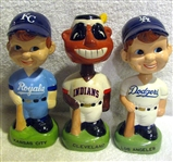 "1988 ""TWIN"" BOBBING HEADS - INDIANS/ROYALS & DODGERS - 3"