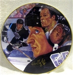 "1989 ""THE GREAT ONE"" SIGNED PLATE - GRETZKY & HOWE"