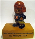 "1950 GENERAL ELECTRIC ""ALL-AMERICAN TEAM"" CARTER-HOFFMAN STATUE"
