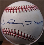 JOHNNY DAMON #18 SIGNED BASEBALL w/CAS COA