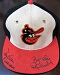 PAUL BLAIR & BROOKS ROBINSON SIGNED ORIOLES CAP w/CAS COA