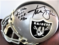 "JIM OTTO ""HOF 1980"" & KEN STABLER SIGNED FOOTBALL mini HELMET w/CAS COA"