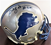 BILLY SIMMS #20 SIGNED FOOTBALL mini HELMET w/CAS COA