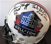 Rosie Brown/Lee Roy Selmon/Sam Huff & Bob St Clair SIGNED FOOTBALL mini HELMET w/CAS COA