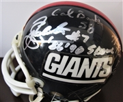 NY GIANTS SIGNED (5) FOOTBALL mini HELMET w/CAS COA