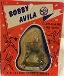"1956 BOBBY AVILA ""BIG LEAGUE STARS"" STATUE ON CARD"