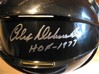ALEX DELVECCHIO HOF 1977 SIGNED HOCKEY MINI HELMET w/ TRISTAR