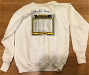 "WILLIE McCOVEY SIGNED ""ROOKIE CARD SWEAT SHIRT"" w/JSA COA"