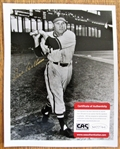 RICHIE ASHBURN SIGNED PHOTO /CAS AUTHENTICATED