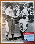 CARL HUBBELL & LEFTY GOMEZ SIGNED PHOTO w/CAS COA