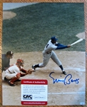 ERNIE BANKS SIGNED COLOR PHOTO w/CAS COA