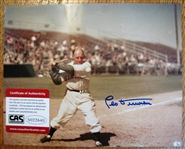 LEO DUROCHER SIGNED COLOR PHOTO w/CAS COA