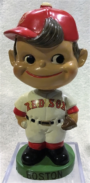60's BOSTON RED SOX GREEN BASE BOBBING HEAD w/RED HAT