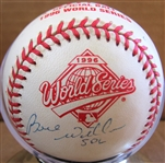 BERNIE WILLIAMS 1996 WORLD SERIES SIGNED BASEBALL w/SGC COA