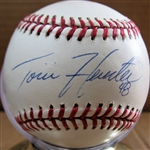 TORI HUNTER SIGNED BASEBALL w/CAS COA