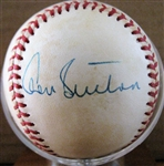 DON SUTTON SIGNED BASEBALL w/CAS COA