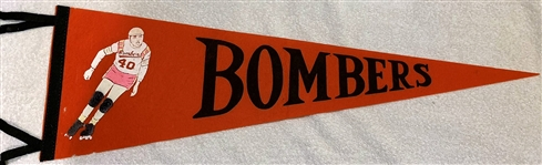 "60s NEW YORK BOMBERS ""ROLLER DERBY"" PENNANT"