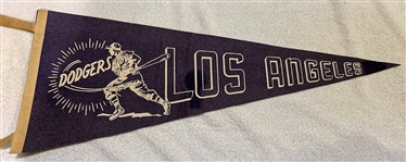 60s LOS ANGELES DODGERS PENNANT