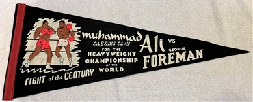 1974 ALI VS FOREMAN PENNANT - RUMBLE IN THE JUNGLE