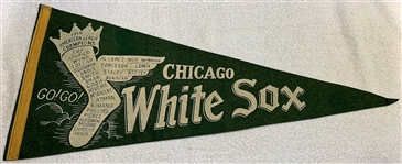 "1959 CHICAGO WHITE SOX ""A.L. CHAMPIONS"" PENNANT- HTF"