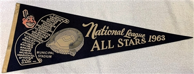 1963 ALL-STAR PENNANT @ CLEVELAND