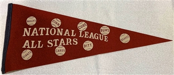 VINTAGE ALL- STAR GAME PENNANT - NATIONAL LEAGUE