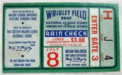 1947 ALL-STAR GAME TICKET STUB