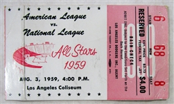 1959 ALL-STAR GAME TICKET STUB