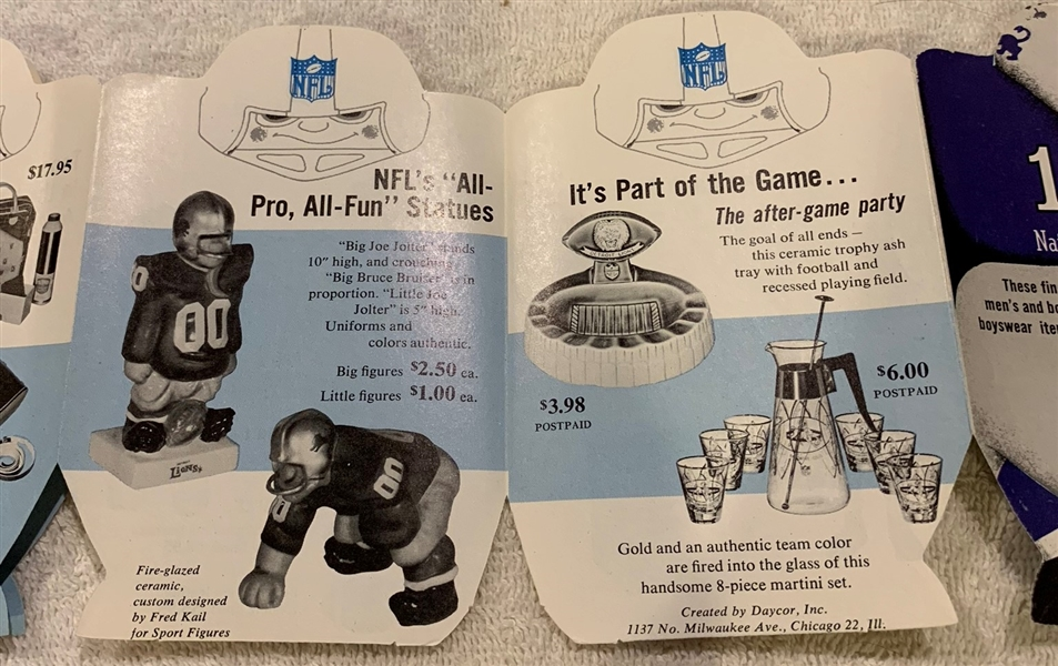 1961 DETROIT LIONS ALL STAR CATALOG w/KAILS & MORE