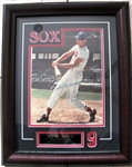 TED WILLIAMS SIGNED MAGAZINE COVER FRAMED wSGC