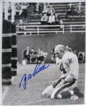 Y. A. TITTLE SIGNED PHOTO w/SGC