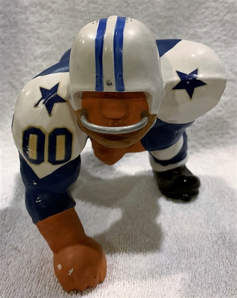 60's DALLAS COWBOYS KAIL STATUE - LARGE DOWN-LINEMAN - VERY RARE