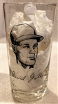 1957 MILWAUKEE BRAVES WORLD CHAMPS PLAYER GLASS- DAVID JOLLY