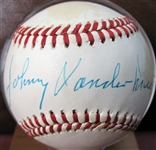 JOHNNY VANDERMEER SIGNED BASEBALL w/CAS COA