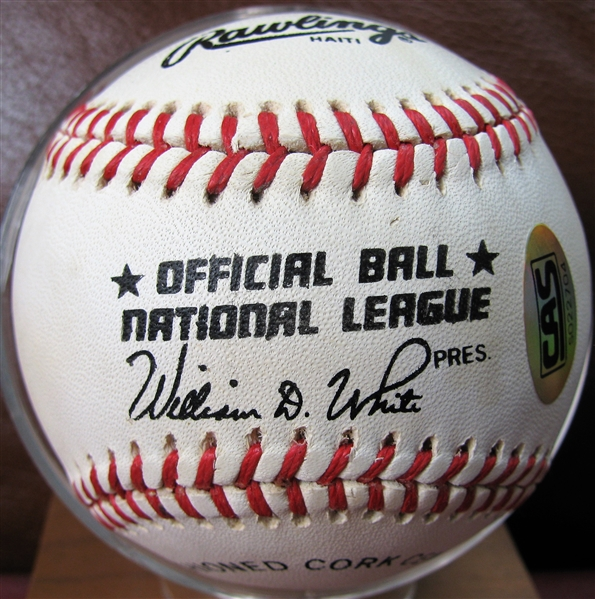 BILLY WILLIAMS SIGNED BASEBALL w/CAS COA
