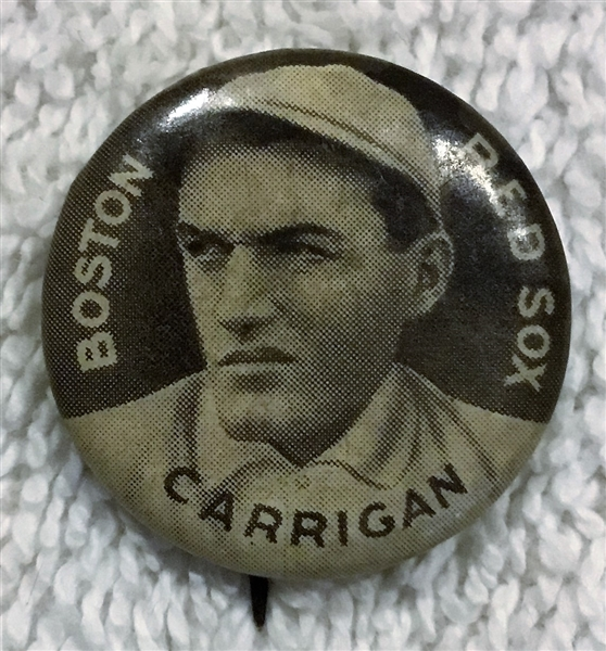 1910-1912 SWEET CAPORAL PIN- CARRIGAN- BOSTON RED SOX