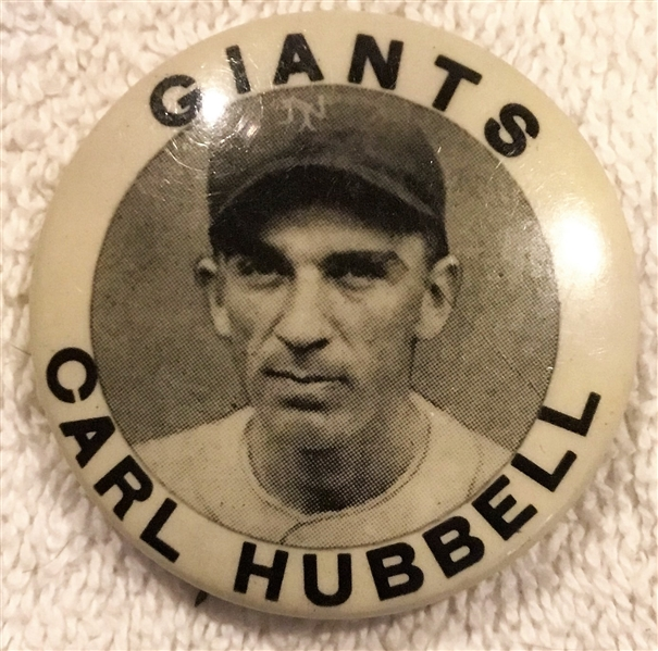 30's CARL HUBBELL PIN - N.Y. GIANTS