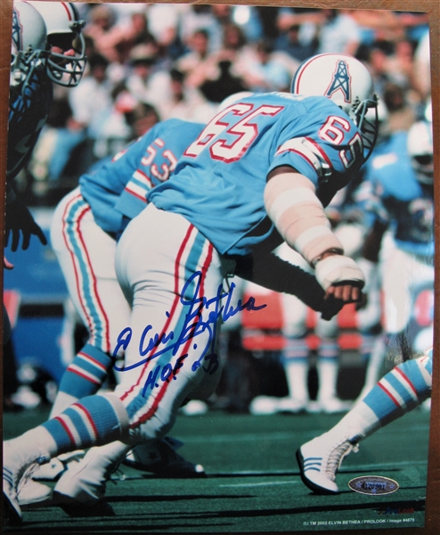 ELVIN BETHEA HOF 03 SIGNED PHOTO /TRISTAR