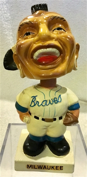 60's MILWAUKEE BRAVES WHITE BASE BOBBING HEAD