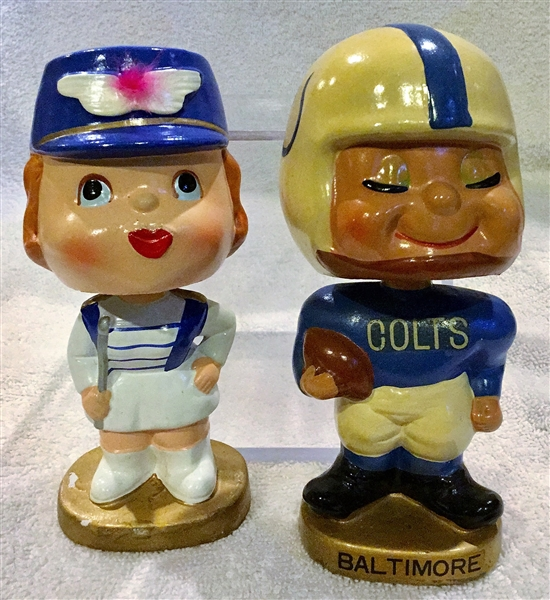 60'S BALTIMORE COLTS KISSING PAIR BOBBING HEADS