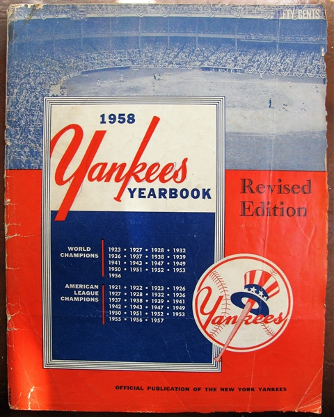 1958 NEW YORK YANKEES YEARBOOK