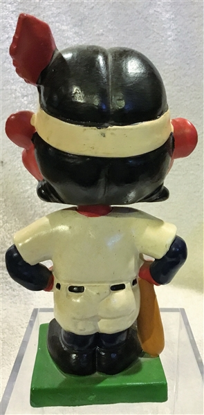 60's CLEVELAND INDIANS COLOR BASE BOBBING HEAD - RARE